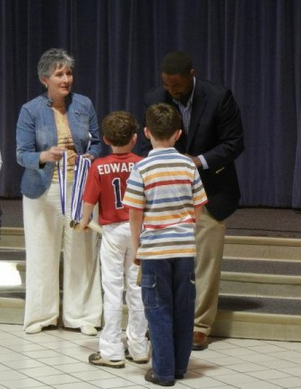 Robin Litaker at Trace Crossings Character Award ceremony.