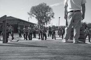 Correction officers in training