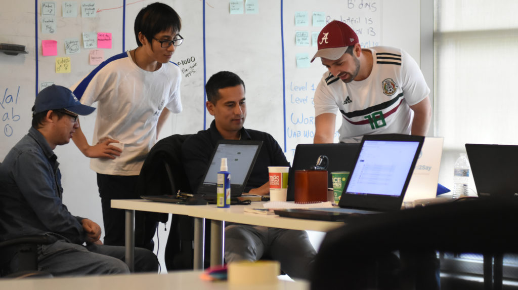 b421590488b32 Working on details for tech startup Need2Say – a mobile app designed to  improve speaking and listening skills for second languages – are